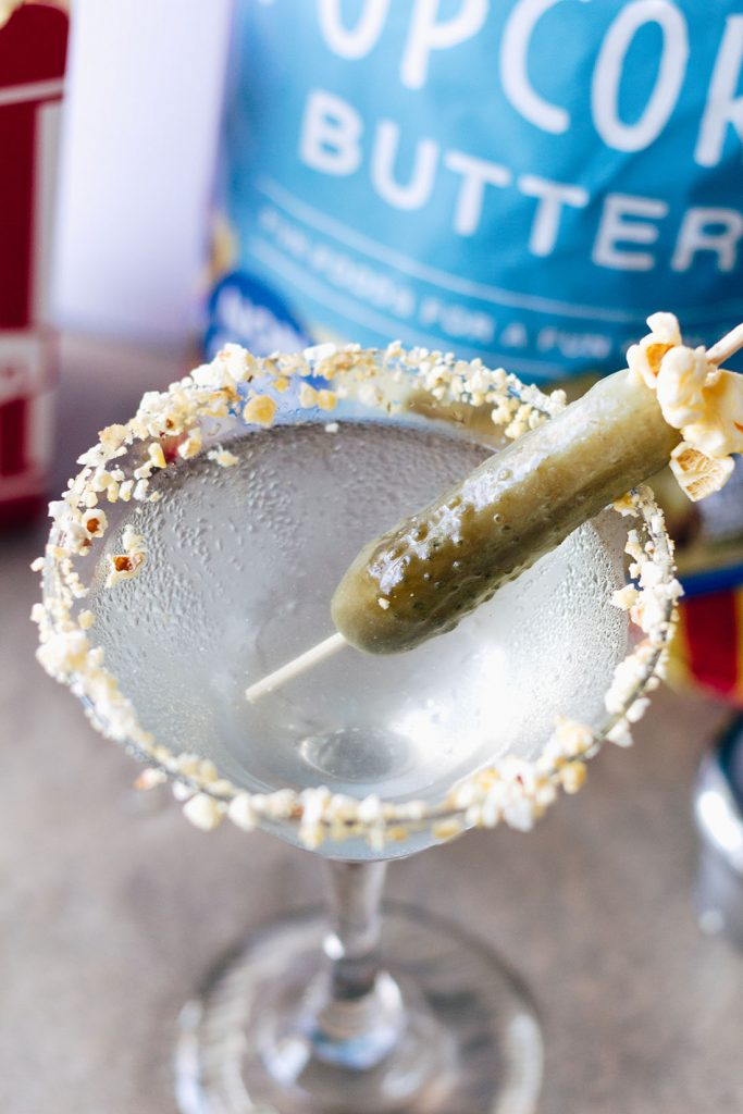 Want a refreshing twist on the Dirty Martini? Try this Pickle Pop Martini instead!