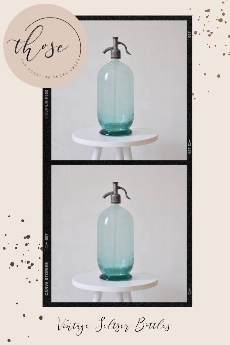 THOSC The Weekly Edit - Vintage Seltzer Bottles