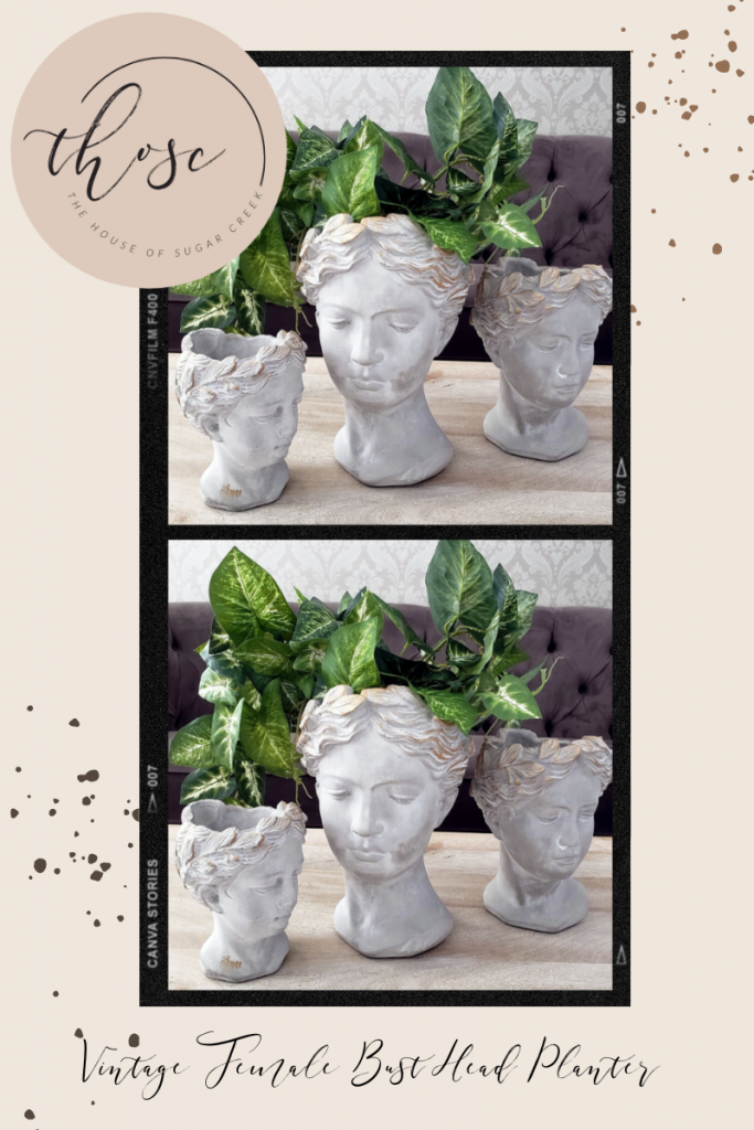 THOSC The Weekly Edit - Vintage-Inspired Female Bust Planters